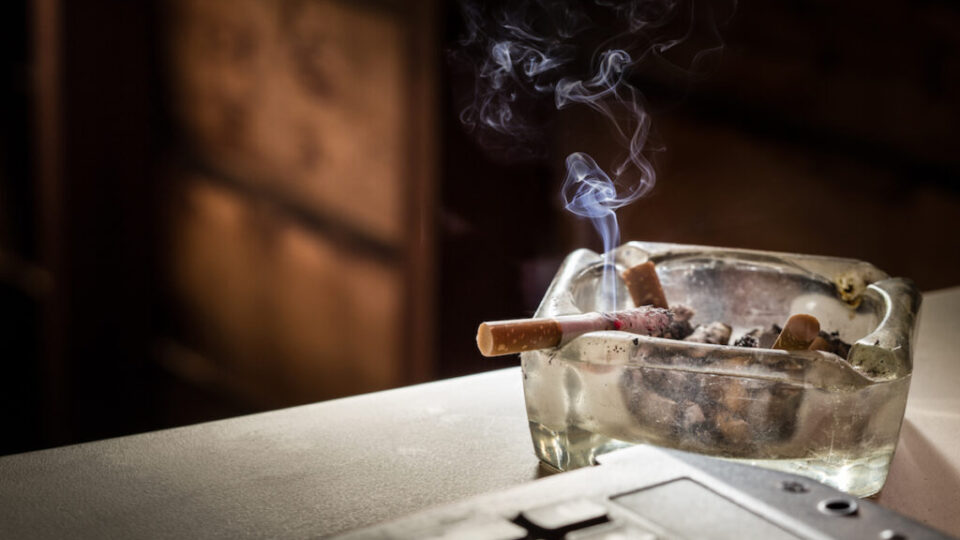 smoke damage restoration-ashtray